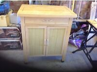 Heart of house tollerton kitchen trolley cabinet used