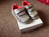 Baby size 5 1/2 trainers, CLARKS first shoes, F width, in box