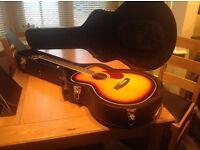 Freshman FA1FSB(S) Acoustic Guitar & hard case