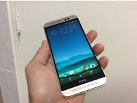 Htc m9 unlocked in gold excellent condition