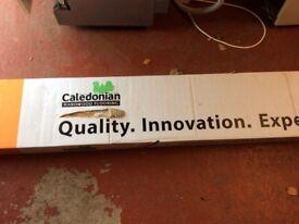 New box of brushed and oiled natural oak hardwood flooring
