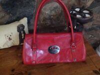 Ri2K Red Leather Handbag