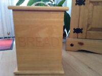 Wooden bread bin good condition