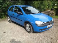 Corsa B in good condition - ideal 1st car. 8m MOT. Low mileage.
