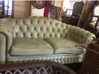 Reduced 2 seater leather Chesterfield sofa
