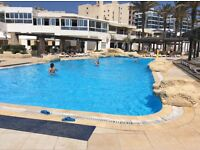 Two bedroom apartment in four star spa resort in Qawra, Malta, sleeps six, self catering