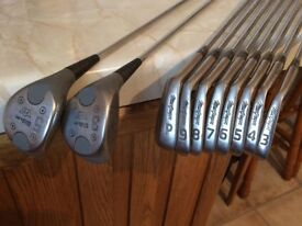 Golf Clubs Left Handed - Jack Nicklaus Irons 3,4,5,6,7,8,9 Pitching Wedge and Wilson 5 and 3 Woods