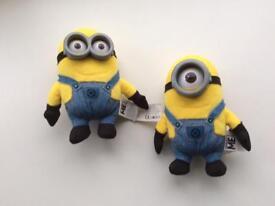 Minions: Bob & Stuart soft plush toys
