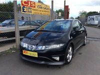 Honda Civic type S 1800 v-tec 2008 67000 fsh full year mot mint car fully serviced may px