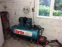 CLARK SE16C150 (1PH) - INDUSTRIAL AIR COMPRESSOR IN VERY GOOD CONDITION - OTO