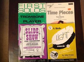 4 Books of Sheet Music for the Trombone Player