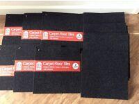 Carpet floor tiles self adhesive size 30cm x 30cm - New