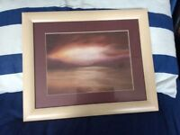 Landscape 42cm x 35cm (including frame) Abstract Picture of the Sea & Sky