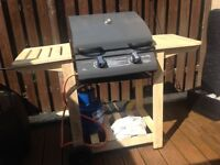 . Gas bbq with cover