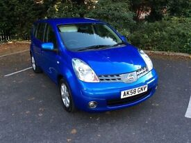 SEPT 2008 NISSAN NOTE 1.4 ACENTA FULL YEARS MOT FULL SERVICE HISTORY LOW MILES