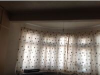 Beautiful clean embroidered silk curtains for sale