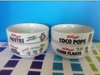 Kelloggs (Collectable) Cereal Bowls 4 with individual designs
