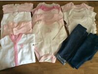Bundle Of Baby Girl Clothes Size Newborn