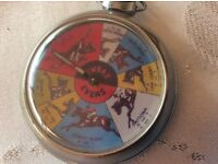 Vintage Antique Pocket Watch Horse Race Game mechanical