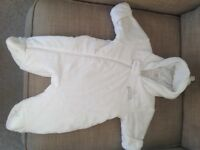 'Next' Snowsuit (up to 1 month old) in excellent condition