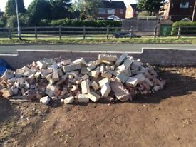 Bricks rubble take as much or little as you like. Easy to load right by road side.