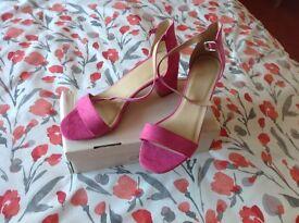 Lovely Sole Diva block heel sanders E fitting . New