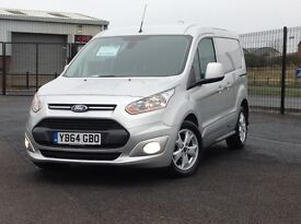 STUNNING LATE 2014 FORD TRANSIT CONNECT. TOP SPEC LIMITED MODEL. 3 SEATS. SIDE DOOR. ONLY 18K MILES.