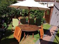 6 seater hardwood patio set