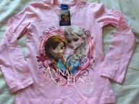 3 brand new frozen tops age 8