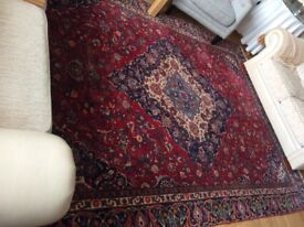 Large Kashan wool rug
