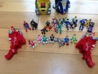 Imaginext Power Rangers Morphing Megazord with figures and guns. for sale  Pontyclun, Rhondda Cynon Taf