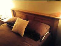 Charming pine headboard (for double bed)