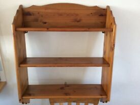 Earsham pine display unit