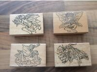 4 craft stamps for card making ( fairies)
