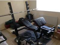 Adidas Power Bench with York Weights & Olympic Bar- JOB LOT !!!!!