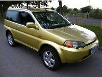 honda hr-v 1.6 petrol automatic 1999 yellow 4x4 mot july 2017