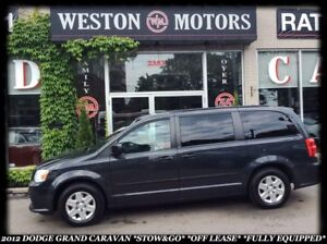 2012 Dodge Grand Caravan *STOW & GO *OFF LEASE *FULLY EQUIPPED