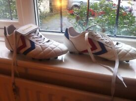 White Hummel - Firm Ground - Barely Worn Football Boots - size 9