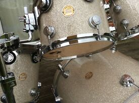 Drum Workshop Collectors Series maple drum kit with stands and cases