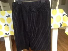 Black business skirt by joseph