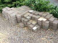 Used block paving approx. 14m2 very decorative when installed blocks in 3 sizes to create patten