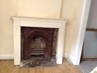 Fireplace surround, large, wooden