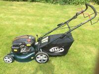 BMC/Wolf petrol lawnmower with electric start.