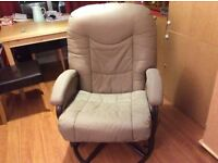 Faux leather swivel chair VGC