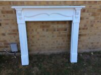 QUALITY HEAVY WOODEN DECORATIVE FIRE SURROUND