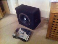 JL Audio subwoofer + American Legacy LA190 240W 2-channel amplifier