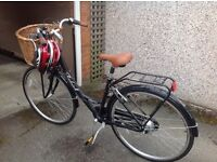 Raleigh ladies bicycle with basket used once. Immaculate condition.