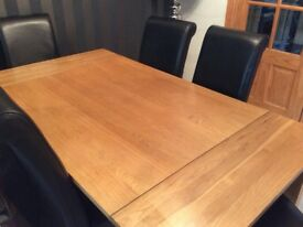 Dining Table & 6 Leather Chairs