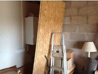 2 sheets of sheathing ply.