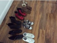 Bundle of girls boots pumps. 2 x Doc Martins, ugg boots and converse pumps. Only want £50 for all.